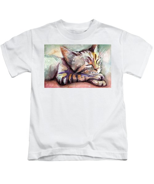 Sleeping Kitten Kids T-Shirt