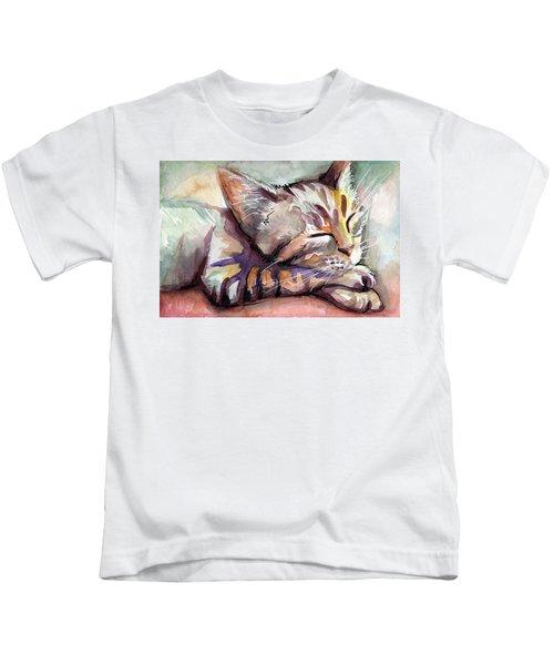 Sleeping Kitten Kids T-Shirt
