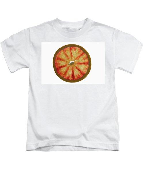 Slice Of Grapefruit, Backlit Kids T-Shirt