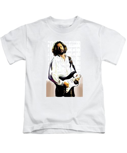 Slow Hand  Eric Clapton Kids T-Shirt by Iconic Images Art Gallery David Pucciarelli