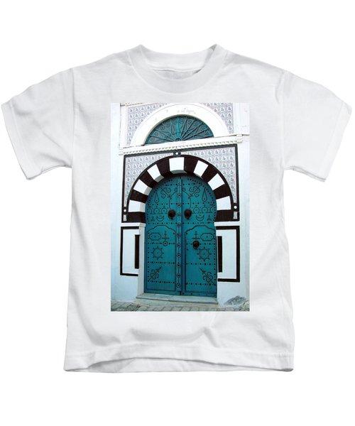 Smiling Moon Door Kids T-Shirt