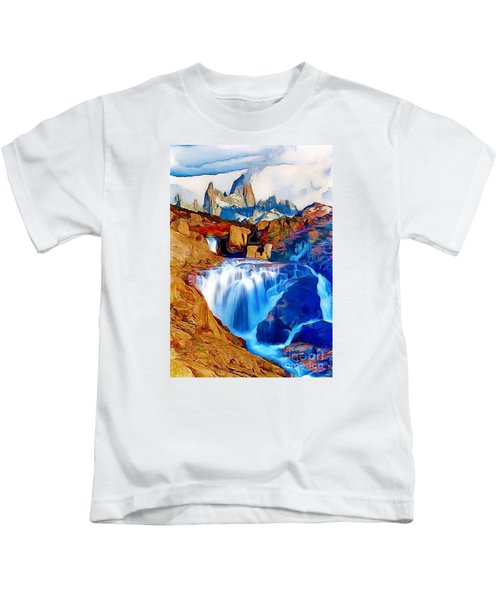 Smokey Mountain View Kids T-Shirt