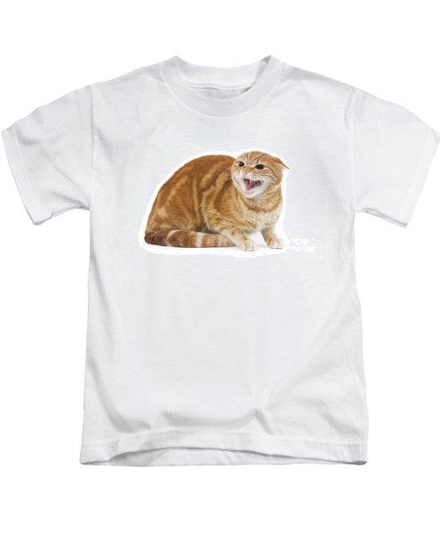 Snarling Cat Kids T-Shirt