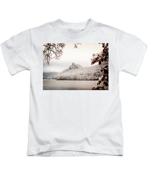 Snow Covered Sugarloaf Kids T-Shirt