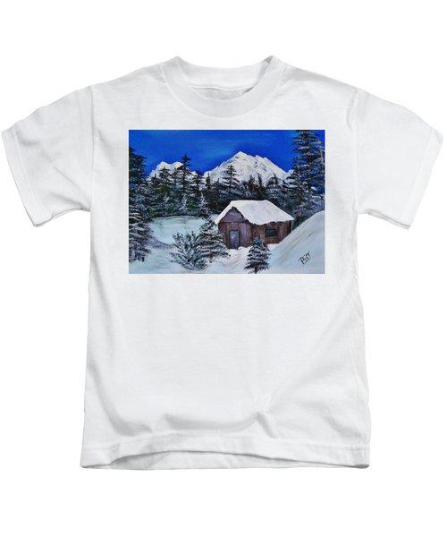 Snow Falling On Cedars Kids T-Shirt