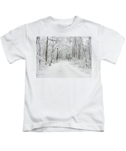 Snow In The Park Kids T-Shirt