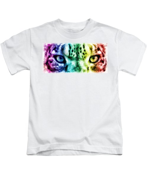 Snow Leopard Eyes 2 Kids T-Shirt