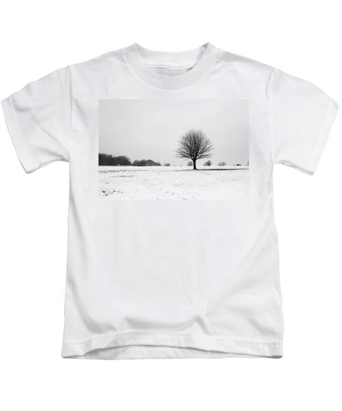 Snow On Epsom Downs Surrey England Uk Kids T-Shirt