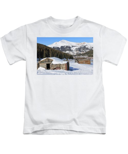 Snowy Cabins Kids T-Shirt