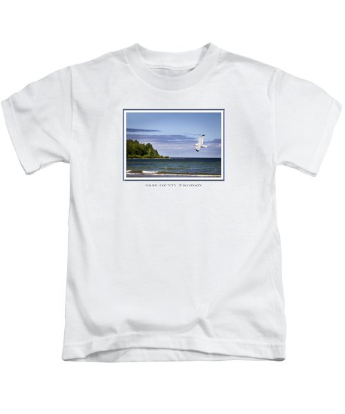 Soaring Over Door County Kids T-Shirt