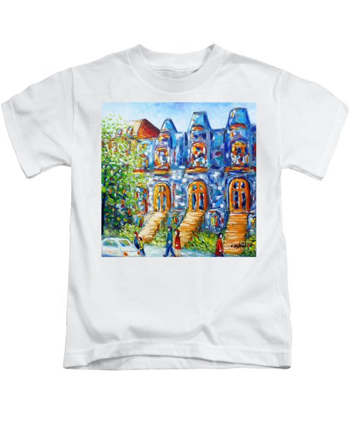 Somewhere In Montreal - Cityscape Kids T-Shirt