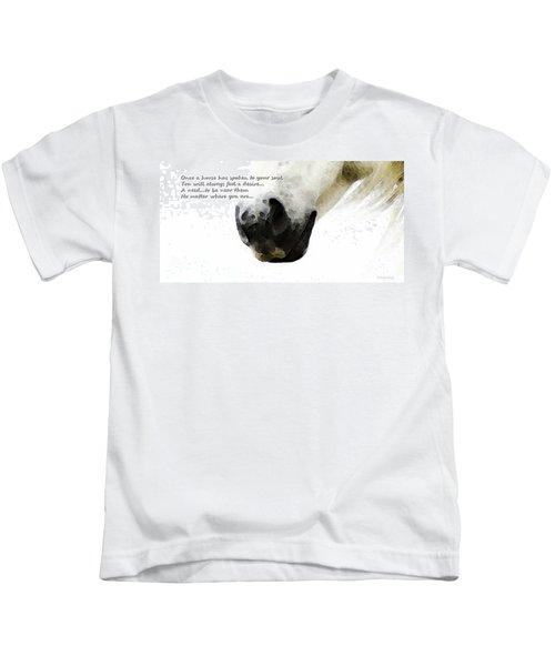 Soul Touch - Emotive Horse Art By Sharon Cummings Kids T-Shirt