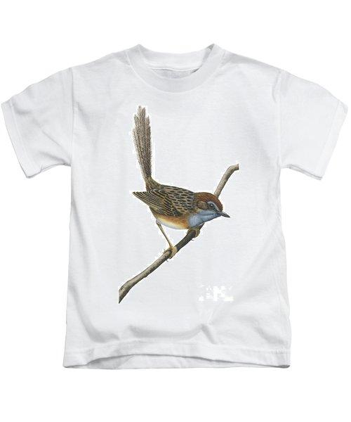 Southern Emu Wren Kids T-Shirt by Anonymous