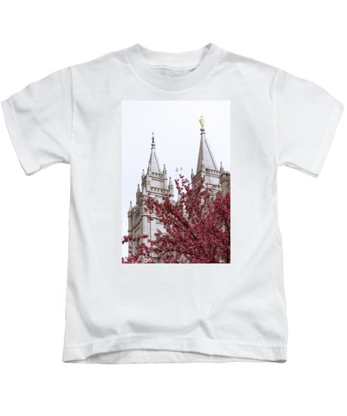Spring At The Temple Kids T-Shirt