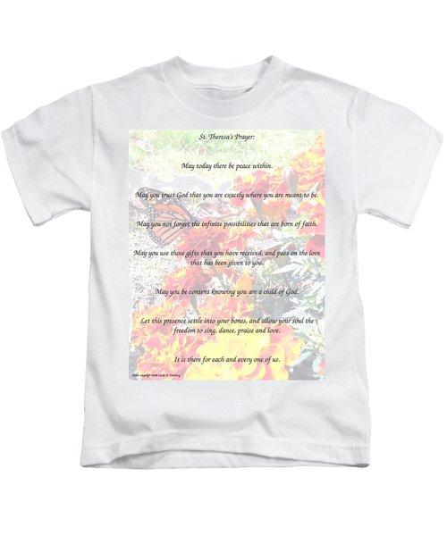 St Theresa's Prayer Kids T-Shirt