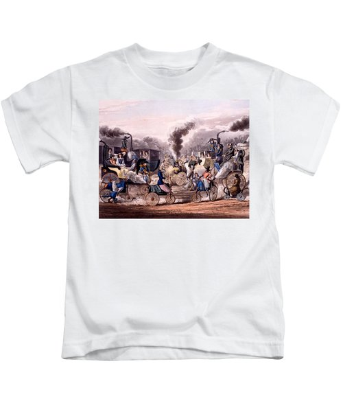 Steam-powered Vehicles Kids T-Shirt