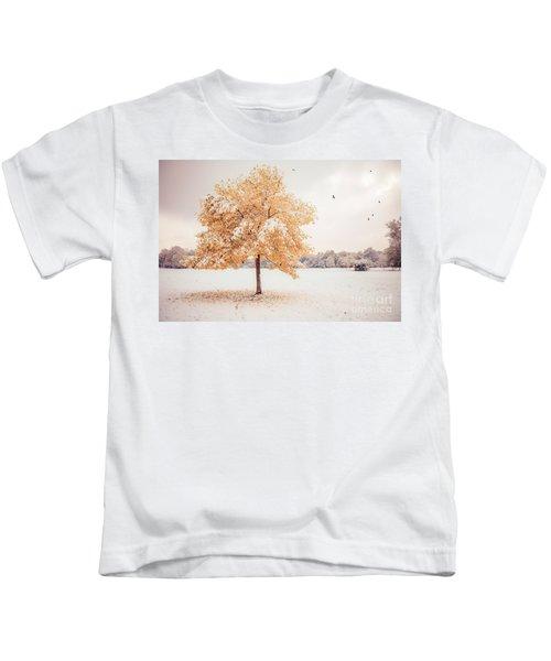Still Dressed In Fall Kids T-Shirt