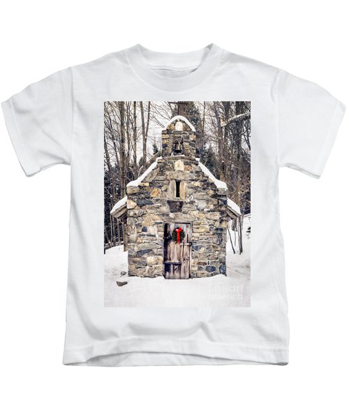 Stone Chapel In The Woods Trapp Family Lodge Stowe Vermont Kids T-Shirt