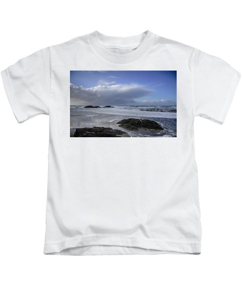 Storm Rolling In Wickaninnish Beach Kids T-Shirt