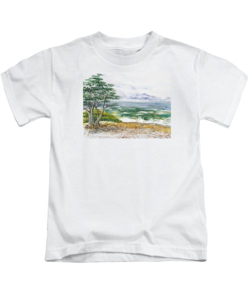 Stormy Morning At Carmel By The Sea California Kids T-Shirt