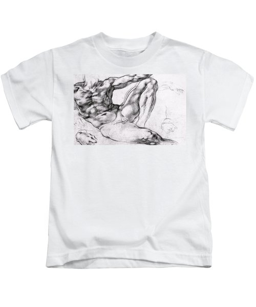 Study For The Creation Of Adam Kids T-Shirt