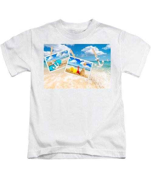 Summer Postcards Kids T-Shirt