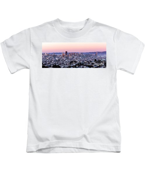 Sunset Cityscape Kids T-Shirt