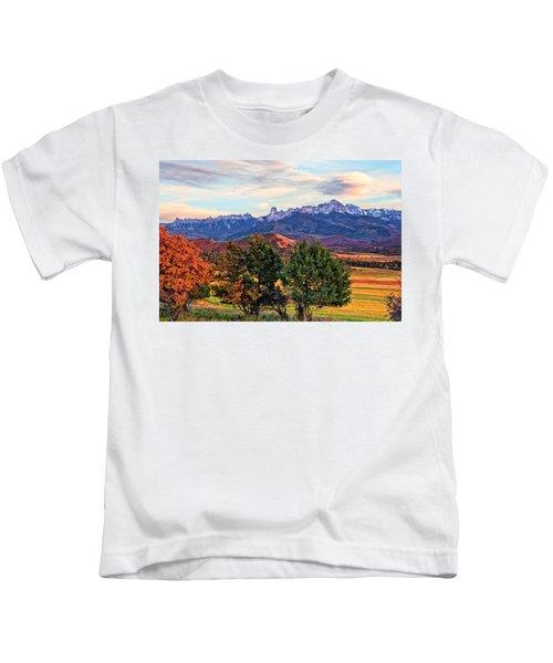 Sunset Over Owl Creek Pass Kids T-Shirt