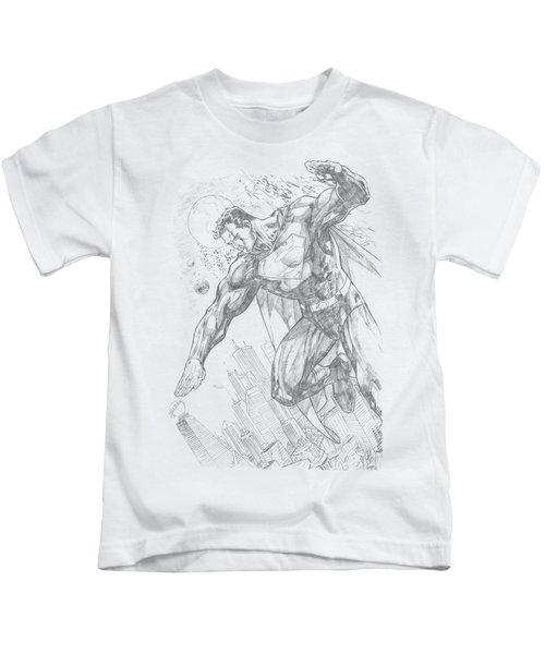 Superman - Pencil City To Space Kids T-Shirt