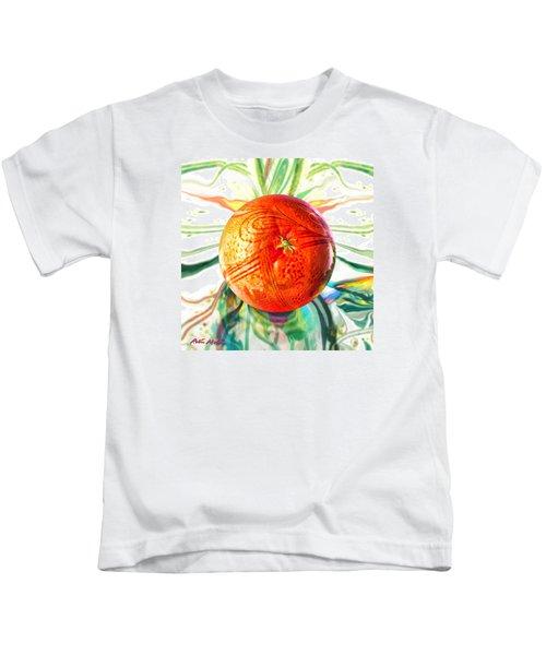 Tangerine Orb Nouveau Kids T-Shirt