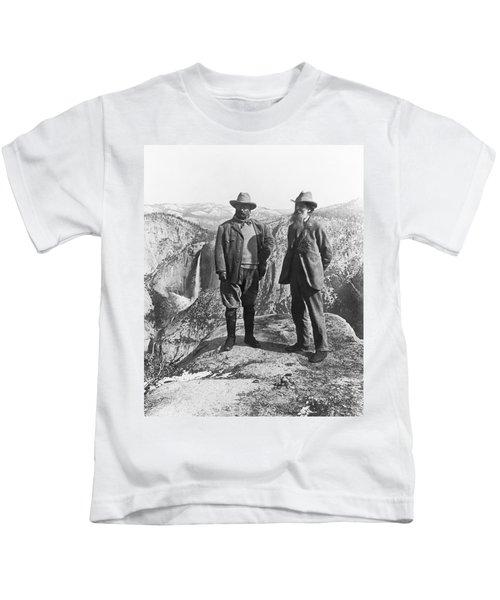 Teddy Roosevelt And John Muir Kids T-Shirt