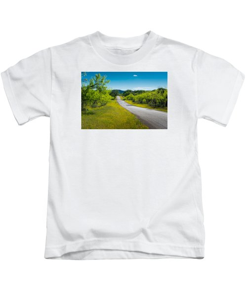 Texas Hill Country Road Kids T-Shirt