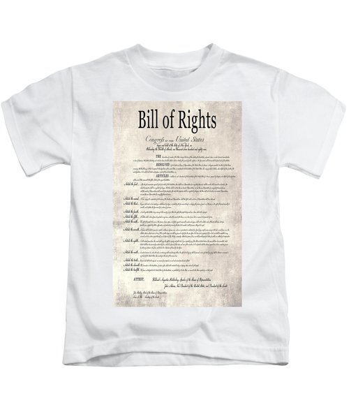 The Bill Of Rights Parchment Kids T-Shirt