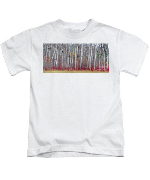 The Birches Panorama  Kids T-Shirt