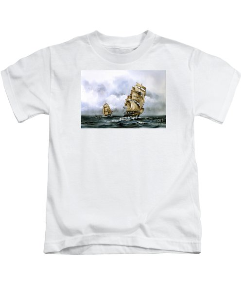 The Cutty Sark And The Red Clipper Kids T-Shirt