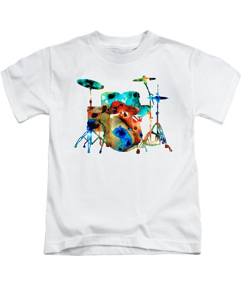 The Drums - Music Art By Sharon Cummings Kids T-Shirt