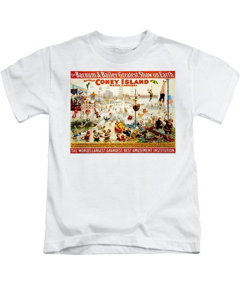 The Great Coney Island Water Carnival Kids T-Shirt