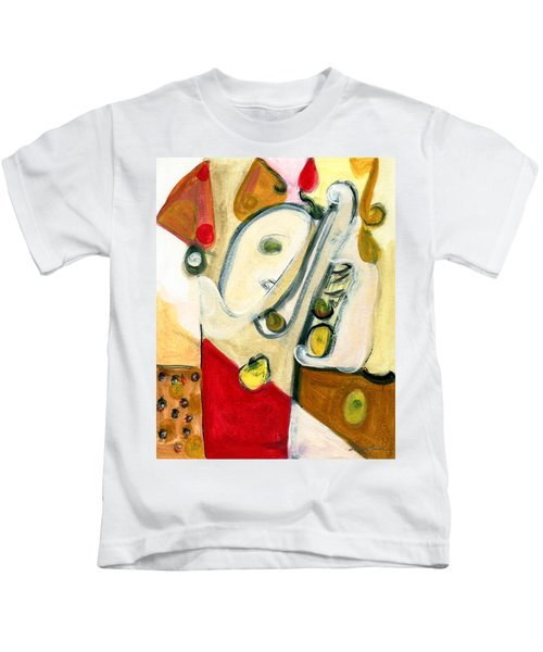 The Horn Player Kids T-Shirt