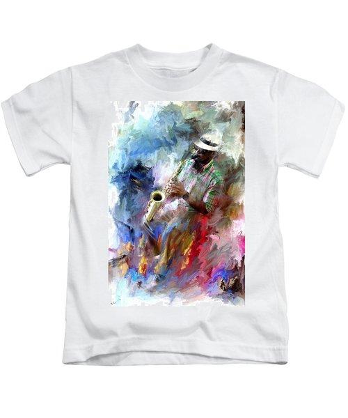 The Jazz Player Kids T-Shirt