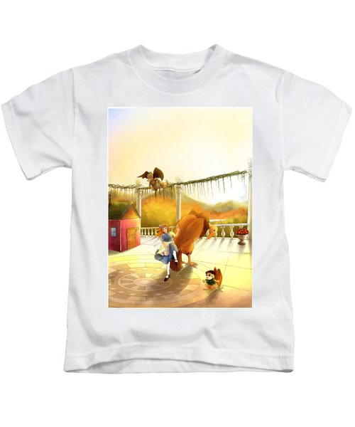 The Landing On The Balcony  Kids T-Shirt