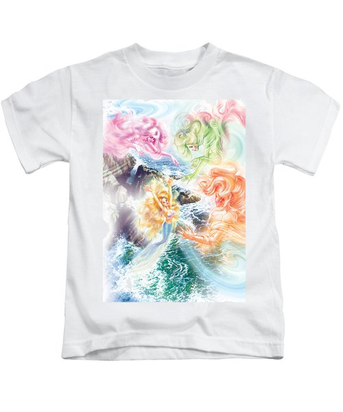The Little Mermaid And Wind Daughters Kids T-Shirt