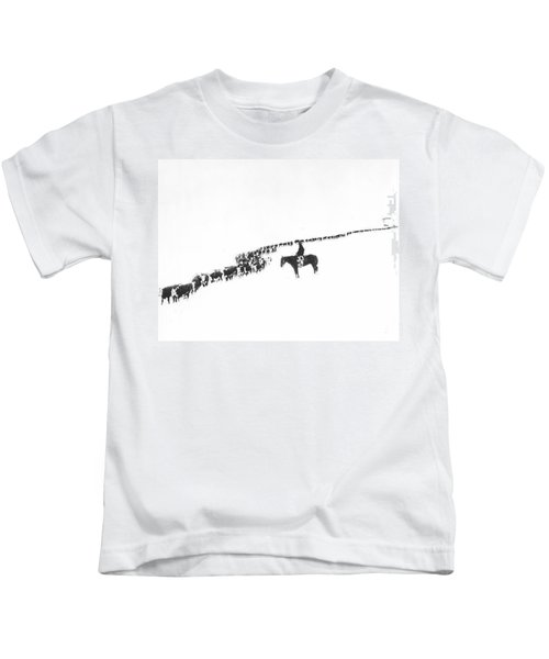 The Long Long Line Kids T-Shirt