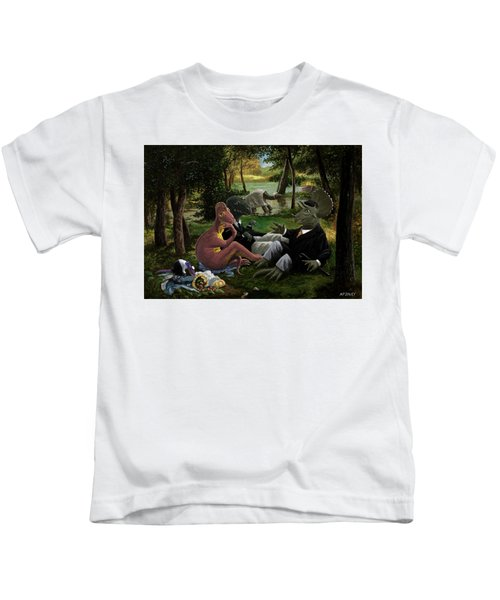The Luncheon On The Grass With Dinosaurs Kids T-Shirt