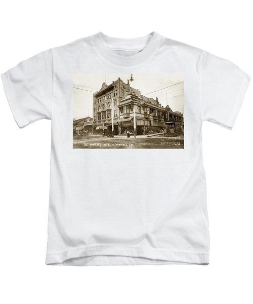 The Monterey Hotel 1904 The Goldstine Block Building 1906 Photo  Kids T-Shirt