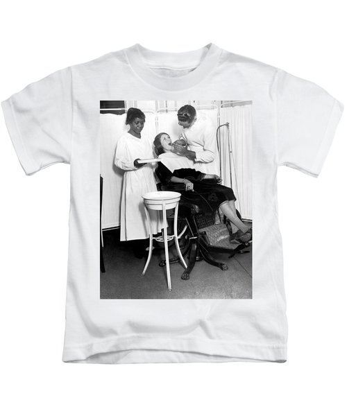 The North Harlem Dental Clinic Kids T-Shirt by Underwood Archives