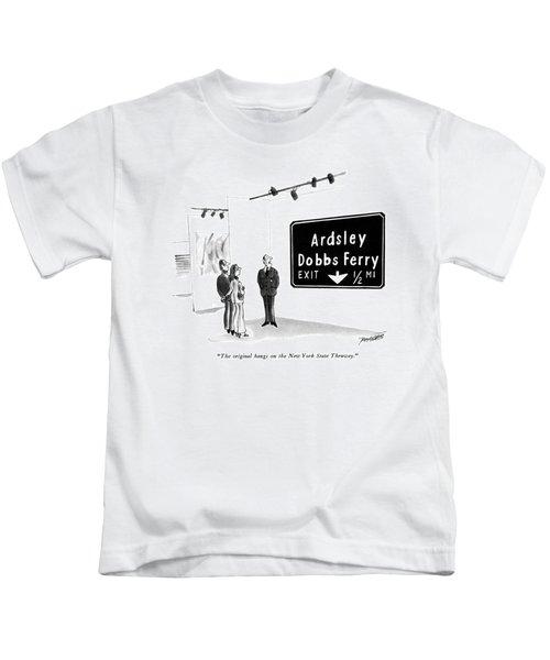 The Original Hangs On The New York State Thruway Kids T-Shirt