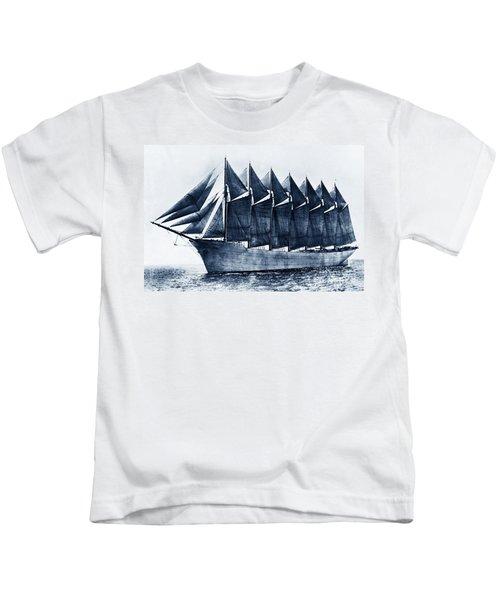 Thomas W. Lawson Seven-masted Schooner 1902 Kids T-Shirt