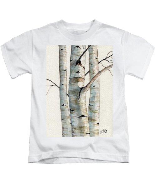 Three Birch Trees Kids T-Shirt