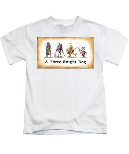 Three Knight Dog Kids T-Shirt