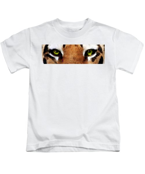 Tiger Art - Hungry Eyes Kids T-Shirt